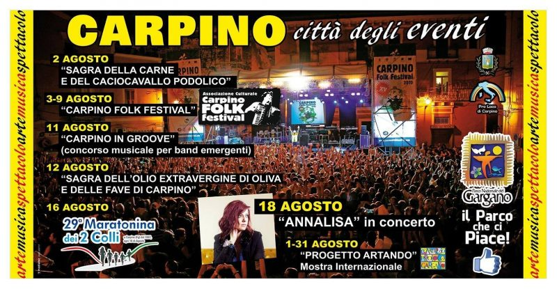 Programma Carpino estate 2015